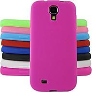 Для Кейс для  Samsung Galaxy Защита от удара Кейс для Задняя крышка Кейс для Один цвет Силикон Samsung S4