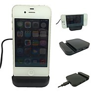 Black Mobile Phone Holder Holders with USB HUB for iPhone4/4s/5/5S/5C/6 and Others