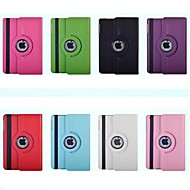 Solid Color PU with stand automatic sleep and wake with the rotating protective sleeve for IPad 2/3/4(Assorted Colors)