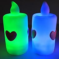 nouvelle Iove romantique conduit émettant de la lumière bougie électronique (pack de 5, rouge, orange, rgb)
