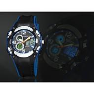OHSEN 남성 스포츠 시계 LED 달력 크로노그래프 방수 석영 실리콘 밴드 럭셔리 블랙 화이트 블루 레드 노란색