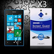 protector de pantalla de HD con polvo absorbente para Nokia Lumia 520/525 (3 piezas)