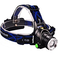 OSA568 Rechargeable  3-Mode 1x Cree XML-T6  Zoom  Waterproof Headlamp LED Flashlight (2000LM, 2x18650, Black)