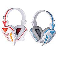 cosonic cd-618 hodetelefon kablet 3.5mm over øret gaming med mikrofon LED lys for pc