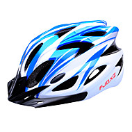 fjqxz 18 통풍구 분기 EPS + PC 파란색과 흰색 일체 성형 자전거 헬멧 (56-63cm)