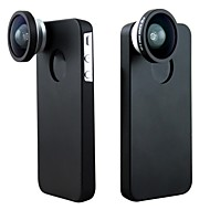 Detachable Screw-in 140° 0.4X  Super Wide Angle Lens With Hard Back Case and Pouch for iPhone 5C