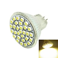 3W G4 / GU4(MR11) / GZ4 LED Spotlight MR11 30 SMD 3528 180-240 lm Warm White DC 12 V
