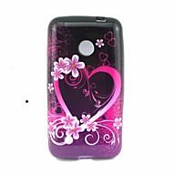 のために Nokiakケース パターン ケース バックカバー ケース ハート ソフト TPU Nokia Nokia Lumia 530