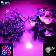 5 pcs MORSEN E26/E27 5W 5 SMD 500 LM Purple MR16 LED Spotlight AC 85-265 V