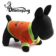 DroolingDog® Halloween Pumpkin Pattern 100% Cotton T-Shirt for Dogs(Assorted Colors Sizes)