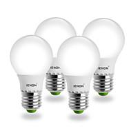5W E26/E27 LED Globe Bulbs G60 SMD 400-450 lm Warm White AC 100-240 V 4 pcs