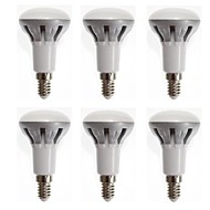 6 pcs YOKON E14 6 W 12 SMD 2835 400 LM Warm White R LED Filament Lamps AC 100-240 V