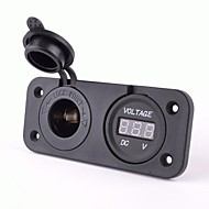 stopcontact met DC 12V digitale voltmeter