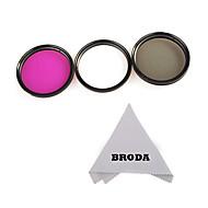 58mm 3 pièces kit de filtre (UV-CPL-FLD) + chiffon de nettoyage