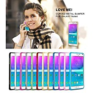 Για Samsung Galaxy Note Εξαιρετικά λεπτή tok Αντικραδασμική tok Μονόχρωμη Μεταλλικό Samsung Note 4