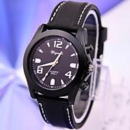 Herrenmode casual Silikonquarz runde Gehäuse Sport Militärgeschäft Uhren