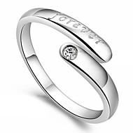 Damskie Duże pierścionki Miłość Serce Korygujący Otwarte Srebro standardowe Heart Shape Biżuteria Na Impreza