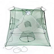 折りたたみ式ポータブルエビのケージ - 緑+シルバー