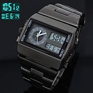 Montre en acier pleine sport multi-fonctionnel analogique-numérique montre-bracelet des hommes conduit horloge à quartz (couleurs assorties)