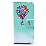 coco fun® maleri sirkel floral mønster pu lær full body sak med film og usb-kabel og pekepenn for iphone 5c