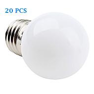 20 pcs E26/E27 1 W 12 SMD 3528 30 LM Warm White / Cool White LED Filament Bulbs AC 220-240 V