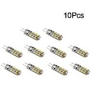 G4 led corn lyser t 24 smd 3014 1w 50-100 lm varm hvid / kølig hvid dc 12 v 10 stk