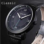 Men's Watch Dress Watches Classic Black Genuine Leather Analog Sports Wrist Watch Japan Movement