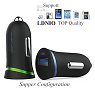 ldnio® 12v ~ 24v bil sigarettenner lader sikkerhet spenning for samsung s6 9510 og andre (5V-2.1a)