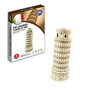 legetøj - 3D puslespil den verdensberømte minen arkitektur serie det skæve tårn i pisa papir puslespil