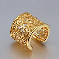 バンドリング クリスタル 純銀製 ゴールド ジルコン タッセル ファッション ゴールド ゴールド-ピンク ジュエリー 結婚式 パーティー 日常 カジュアル 1個