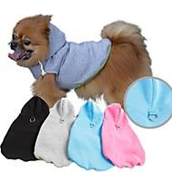 Camisola com Capuz - Todas as Estações - Preto / Azul / Cinzento / Rosa - Fantasias - de Terylene - para Cães - XS / S / M / L