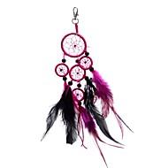 la mode lureme® rondeur porte-clés en alliage de perles dreamcatcher de plumes