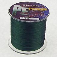 300M / 330 yardas Hilo trenzado PE / Dyneema Sedal Verde Oscuro 30LB / 35LB / 40LB / 45LB mm ParaPesca de Mar / Pesca a la mosca / Pesca