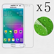 [5-Pack] High Transparency LCD Crystal Clear Screen Protector with Cleaning Cloth for Samsung galaxy A5