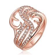 Pierścionki dla par Kamienie zodiakalne Kryształ Kryształ górski Pozłacane 18K złoty Imitacja diamentu Stop Geometric Shape Rose Golden