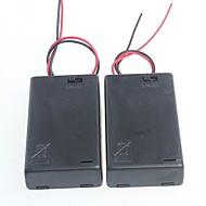 3 verpakkingen standaard met schakelaar accubak voor AA-batterijen 4.5v