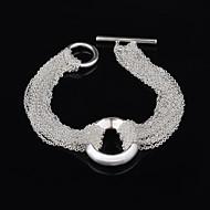 Γυναικεία Βραχιόλια Strand Επάργυρο Love Ασημί Κοσμήματα Για Γάμου Πάρτι Καθημερινά Causal 1pc