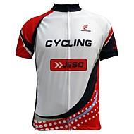 JESOCYCLING Ciclismo Blusas / Camisa Homens Moto Respirável / Resistente Raios Ultravioleta / Secagem Rápida / Bolso Traseiro Manga Curta