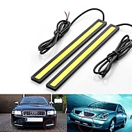 2pcs 14cm 6W 600-700LM Daytime Running light High Power COB DRL Waterproof IP68 Daylight(DC 12V)