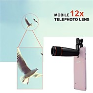 Apexel Clip 12X Telephoto Manual Focus Lens for Samsung S6/S5/Note 4/Note 3 and Other Cellphones (Assorted Color)