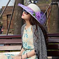 Femei Drăguț/Informal Vara Paie Pălărie cu Boruri Moi