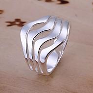 Pierścionki Ślub / Impreza / Codzienny / Casual Biżuteria Srebro standardowe Damskie Duże pierścionki 1szt,8 Srebrne