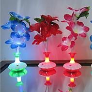 Colour Kapok Flower Vase Optical Fiber Flowers LED Night Light