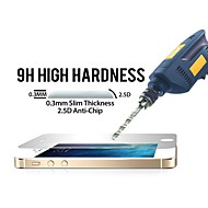 huyshe 0,33 paksuus 2.5D suojaaminen vaurioilta naarmujen karkaistu lasi näytönsuoja iPhone5 / 5c / 5s