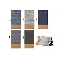 のために Sonyケース / Xperia Z3 カードホルダー / スタンド付き / フリップ ケース フルボディー ケース ソリッドカラー ハード PUレザー のために SonySony Xperia Z3 Compact / Sony Xperia Z3 / Sony