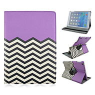 Fashion Wave Grain Rotary PU Full Body Case with Stand for iPad 2/3/4