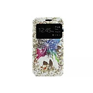 Butterfly Painting Pattern Voltage Window PU Leather Full Body Cases for Samsung Galaxy A3