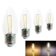 4 Stück Zweihnder Dekorativ Kerzenlampen CA E26/E27 2 W 180 LM 3000-3500 / 6000-6500 K 2 Integriertes LED Warmes Weiß/Kühles WeißAC