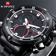 Men's Military Sport Watch Japanese Quartz Analog-Digital LED/Calendar/Chronograph/Water Resistant/Dual Time Zones/Alarm
