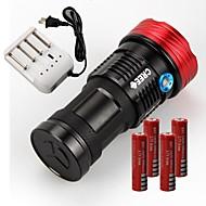 SKYRAY s99 9xCREE XML T6 LED Flashlight Torch Hunting (11000LM,4x18650,Black)